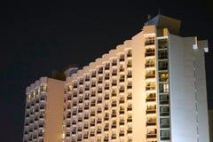 Beautiful building at night stock photography