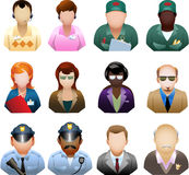Corporation people icon set Royalty Free Stock Image