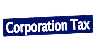 Corporation tax. Rubber stamp with text corporation tax inside,  illustration Royalty Free Stock Photo