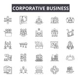 Corporative business line icons for web and mobile design. Editable stroke signs. Corporative business outline concept. Corporative business line icons for web vector illustration