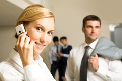 Corporative call Stock Photo