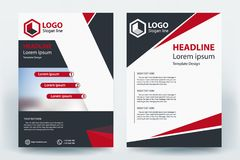 Corporative Company Business Flyer Banner Concept Design stock illustration