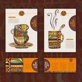 Corporative identitet. Kopp kaffe Arkivbilder