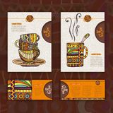 Corporative identity. Cup of coffee. Corporative identity. Menu. Cup of coffee stock illustration