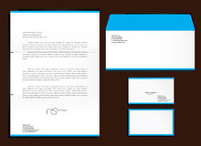 Corporative set. Of letter head, envelope and cards royalty free illustration