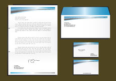 Corporative set. Of letter head, envelope cd and cards vector illustration