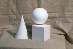 Corpos geométricos simples para tirar ilustração royalty free