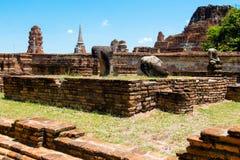 Corps antique Bouddha Ayuthaya, Thaïlande Images libres de droits