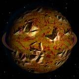 Corps céleste criqué abstrait avec des cratères illustration de vecteur