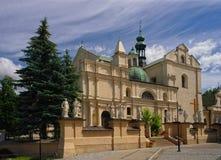 Corps d'église collégiale du ` s du Christ dans Jaroslaw poland Image libre de droits