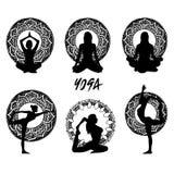 Corps d'illustration de pose de méditation de forme physique de santé de yoga