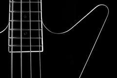 Corps d'une guitare noire classique illustration libre de droits