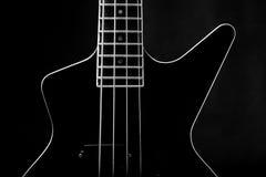 Corps d'une guitare noire classique illustration stock