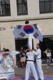 Corps de paix du Taekwondo images stock