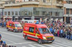 Corps de sapeurs-pompiers SMURD photographie stock
