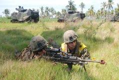 Corps des Marines des Etats-Unis en Indonésie image libre de droits