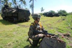 Corps des Marines des Etats-Unis en Indonésie Photographie stock
