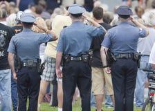 Corps dissous de police photographie stock