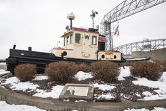 Corps of engineers ice breaker boat Stock Image