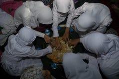 CORPS MUSULMANS INDONÉSIENS POUR LA PEINE DE MORT AUX TRAFIQUANTS DE DROGUE Photo stock