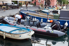 Corps of the Port Captaincies boat. Italy: Corps of the Port Captaincies rigid-hulled inflatable boat. The Corps of the Port Captaincies - Coast Guard (Italian Royalty Free Stock Photography
