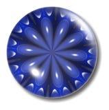 Corps rond bleu de bouton de fleur Photographie stock
