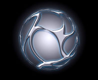 Corps rond brillant en métal Image libre de droits