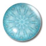 Corps rond de bouton de bleu glacier Photographie stock