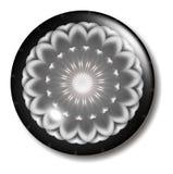 Corps rond rose noir de bouton de fleur Images libres de droits