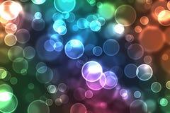 Corps ronds colorés de lumière illustration de vecteur