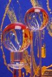 Corps ronds de verre cristal   Image stock