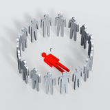Corpse. 3D the illustration on which is represented a victim. A corpse detached onlookers have surrounded Royalty Free Stock Images