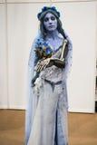 Corpse Bride cosplayer Lizenzfreie Stockbilder