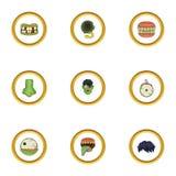 Corpse icons set, cartoon style Royalty Free Stock Photos