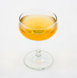 Corpse Reviver cocktail. Consisting of brandy, calvados and sweet vermouth royalty free stock images