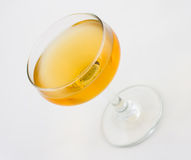 Corpse Reviver cocktail. Consisting of brandy, calvados and sweet vermouth royalty free stock photo