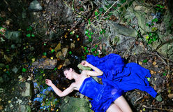 The corpse of a young girl and water Royalty Free Stock Images