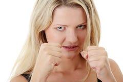 Corpulent woman Stock Image
