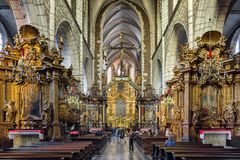 Corpus Christi Basilica à Cracovie, Pologne photographie stock