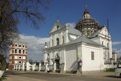 Corpus Christi Catholic Church in Nesvizh, Wit-Rusland stock foto
