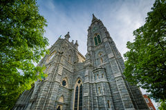 Corpus Christi Church, in de Heuvel van Bolton, Baltimore, Maryland Stock Foto