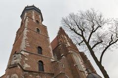 Corpus Christi Church in Jewish Kazimierz district of Krakow, Poland. Royalty Free Stock Photo