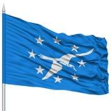 Corpus Christi City Flag sur le mât de drapeau, Etats-Unis Image libre de droits