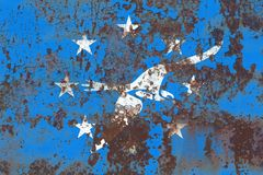 Corpus Christi city smoke flag, Texas State, United States Of Am. Erica Royalty Free Stock Photo