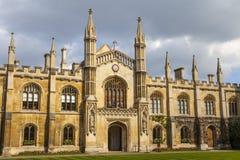 Corpus Christi College bij de Universiteit van Cambridge Stock Afbeelding