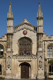 Corpus christi college in Cambridge. Vertical image of Corpus christi college in Cambridge, part of Cambridge University Royalty Free Stock Photography