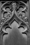 Corpus Christi Door Carving in Black and White Stock Photos