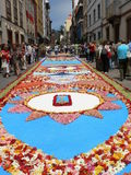 Corpus Christi flower carpets, Tenerife, Canary Islands, Spain Royalty Free Stock Photo