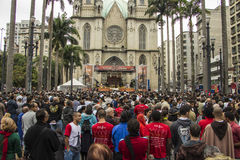 Corpus Christi holyday - Σάο Πάολο Στοκ φωτογραφία με δικαίωμα ελεύθερης χρήσης