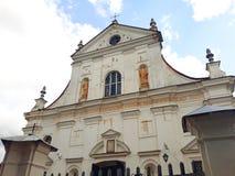 Corpus Christi kościół w NESVIZH, BIAŁORUŚ Zdjęcie Royalty Free